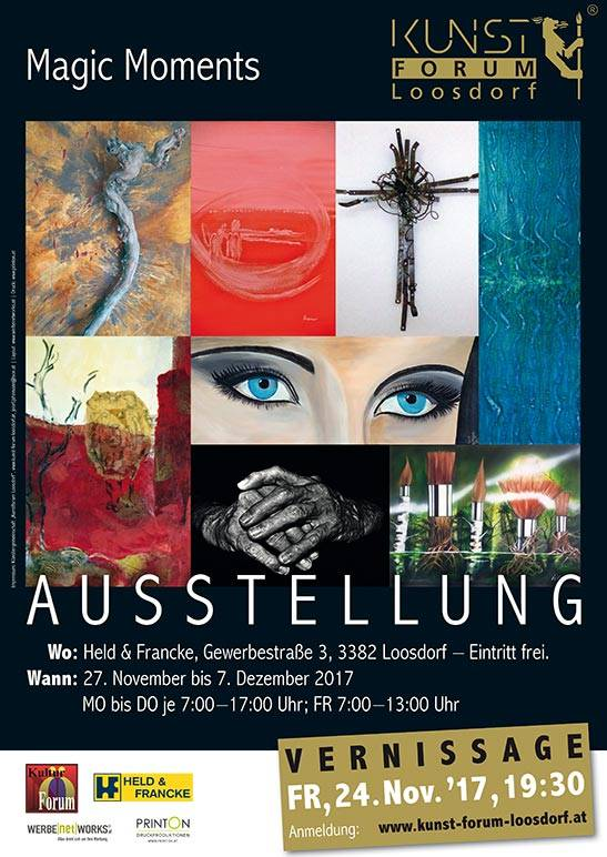 Plakat Ausstellung und Vernissage Magic Moments